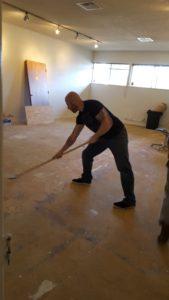 Jan 14 scrapping floor