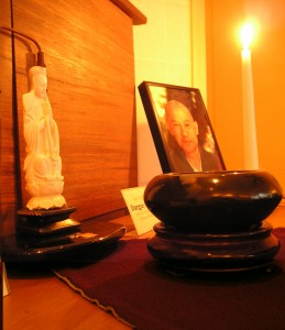 Altar with Suzuki Roshi