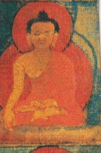 buddha touching earth